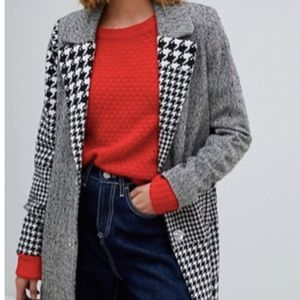 River Island tailored coat in mono check
